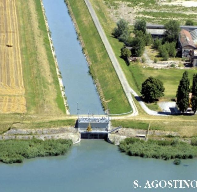 CER floodgates in Sant'Agostino and Crevenzosa